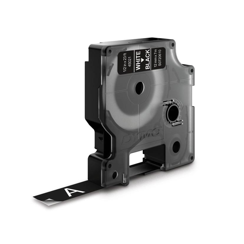 Dymo Tape D1 12mm Hvit/Svart