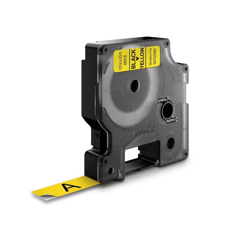 Dymo Tape D1 12mm Sort/Gul