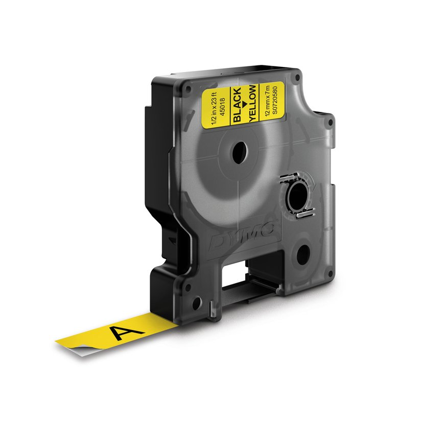 Dymo Tape D1 12mm Svart/Gul