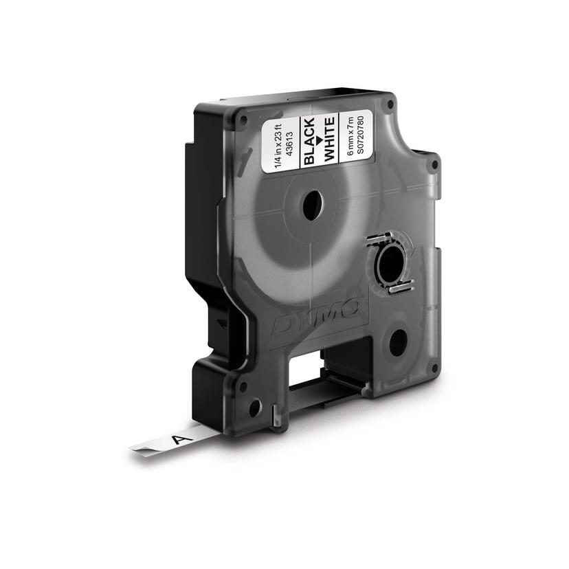 Dymo Tape D1 6mm Svart/Hvit