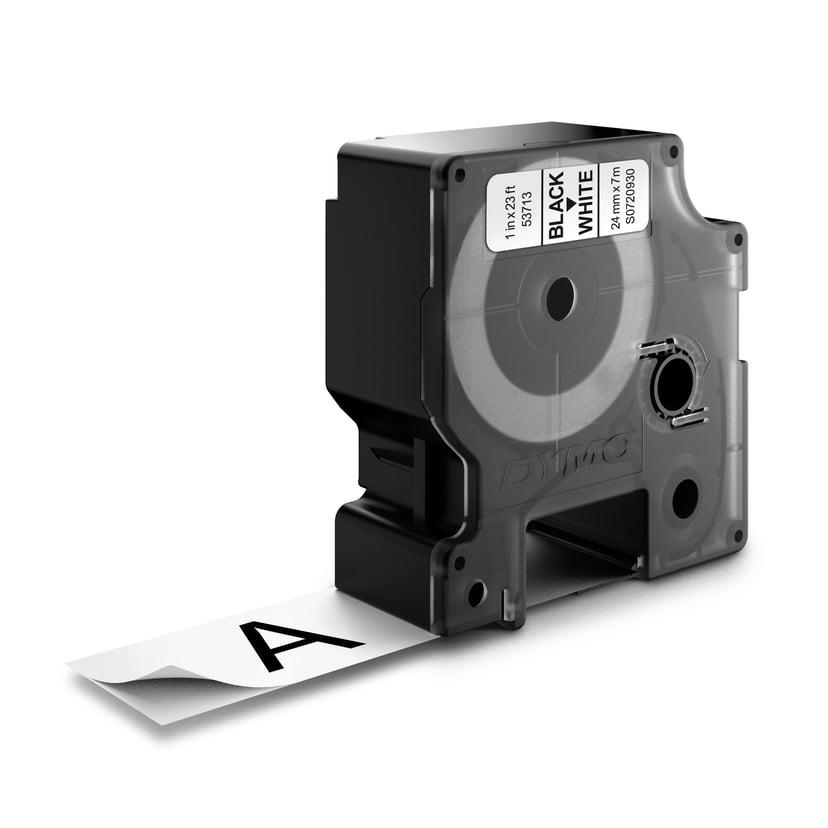 Dymo Tape D1 24mm Svart/Hvit