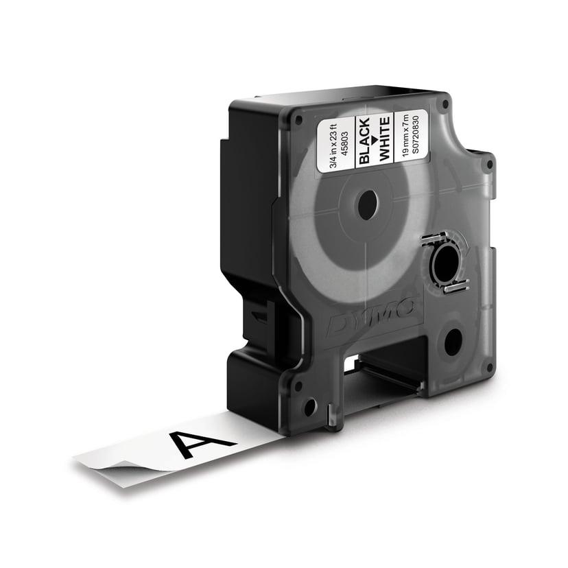 Dymo Tape D1 19mm Svart/Hvit