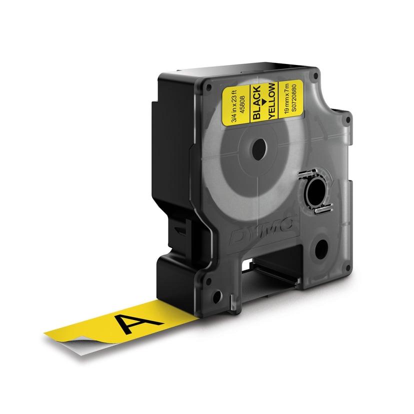 Dymo Tape D1 19mm Svart/Gul