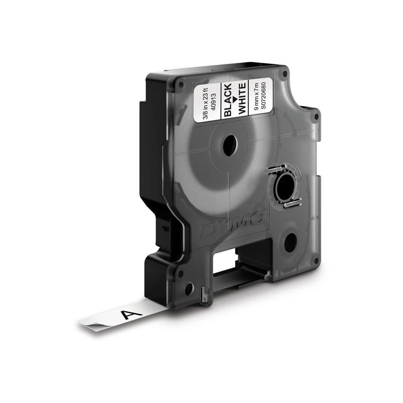 Dymo Tape D1 9mm Svart/Hvit