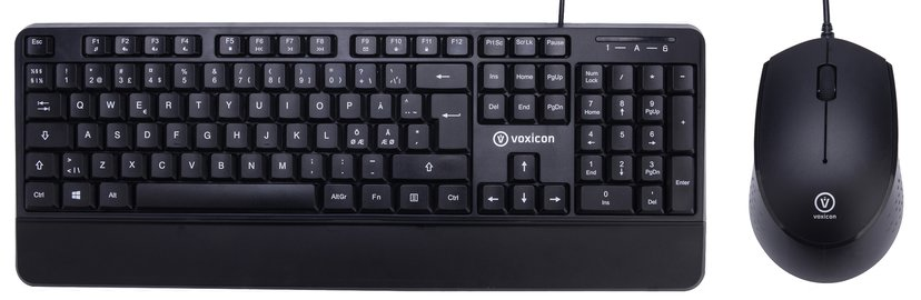 Voxicon 201WH Combo Keyboard and Mouse Nordisk