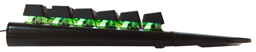 Voxicon Gaming Keyboard RGB Näppäimistö Langallinen Pohjoismaat Musta