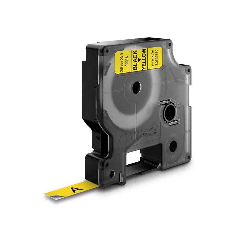 Dymo Tape D1 9mm Svart/Gul