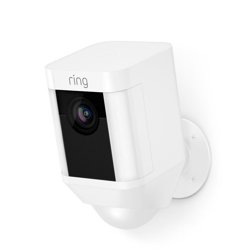 Ring Spotlight Kamera Med Batteri Hvid