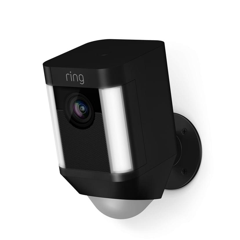 Ring Spotlight Kamera, jossa on akku, Musta