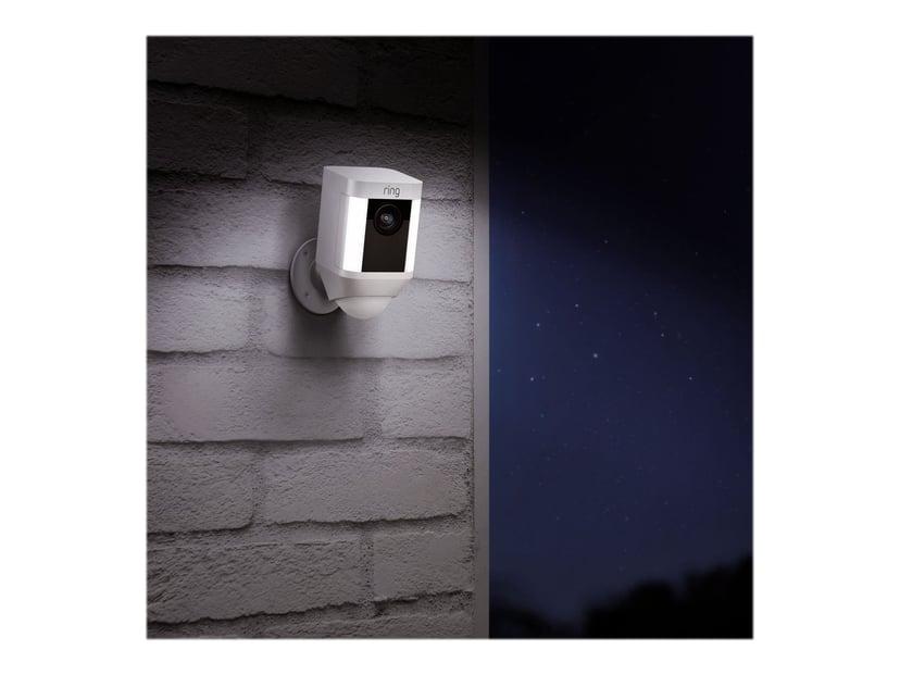 Ring Spotlight Kamera Med Batteri Vit