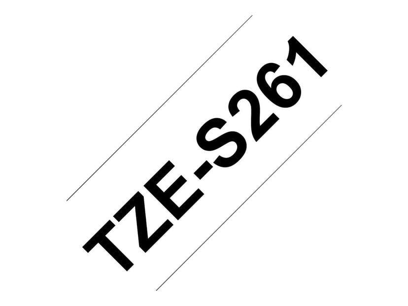 Brother Tape TZES261 36mm Sort/Hvid Botten Extra Stark
