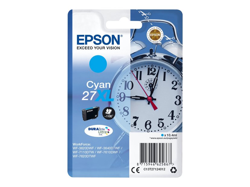 Epson Inkt Cyaan 27XL