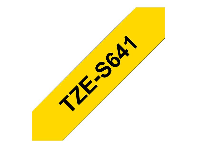 Brother Tape TZE-S641 18mm Svart/Gul Extra Stark