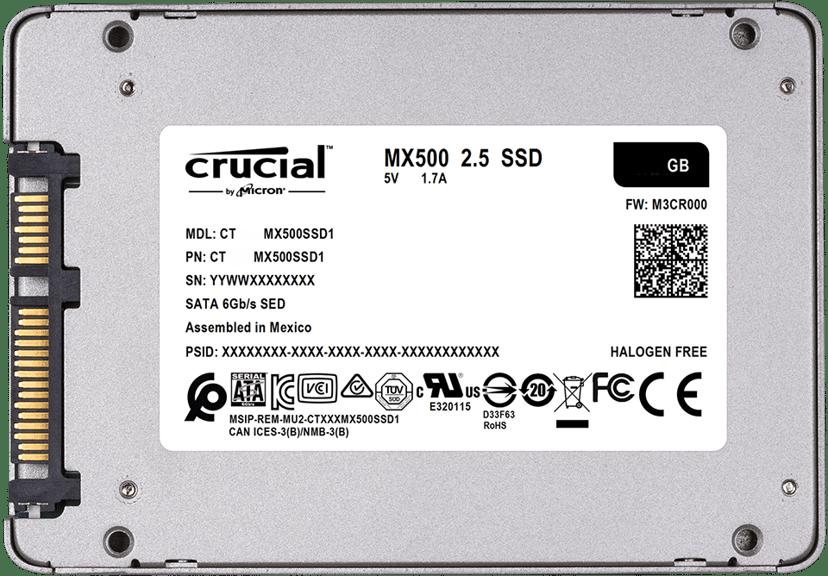 "Crucial MX500 2,000GB 2.5"" Serial ATA-600"