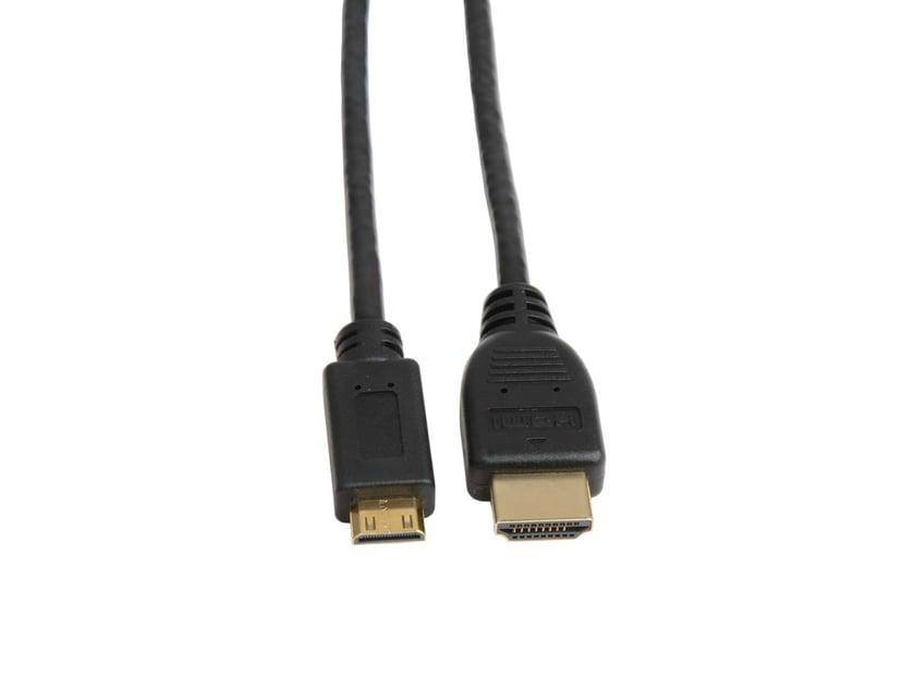 Prokord Prokord HDMI - HDMI Mini High Speed W/ Ethernet 1.0m Black 1m HDMI Mini Hane HDMI Hane