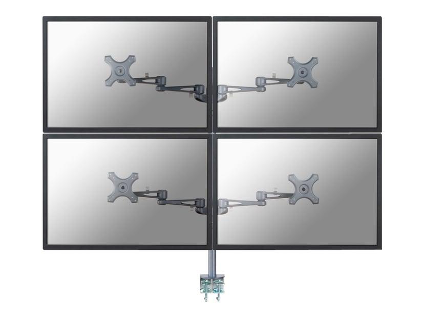 "Newstar Deskmount 4Monitor 10""-27"" 12 kg Clamp Silver"