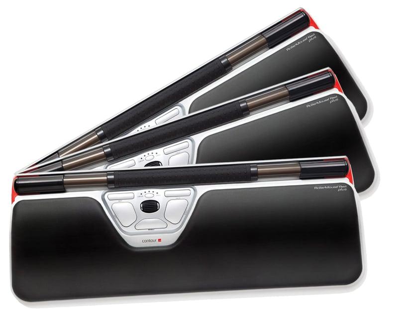 Contour Design RollerMouse Red Plus 10-Pack 2,400dpi Kablet Svart; Sølv