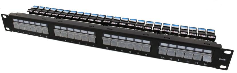 Direktronik Patchpanel 24 porter UTP CAT 6