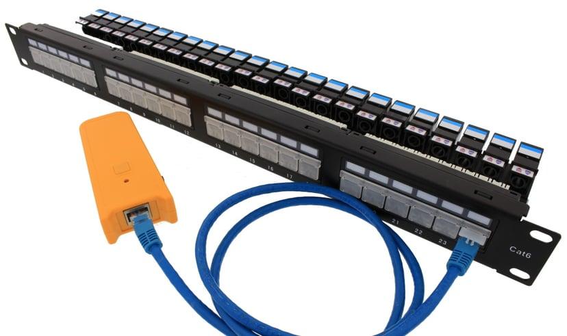 Direktronik Patchpanel 24 porte Uskærmet drejet partråd (UTP) CAT 6