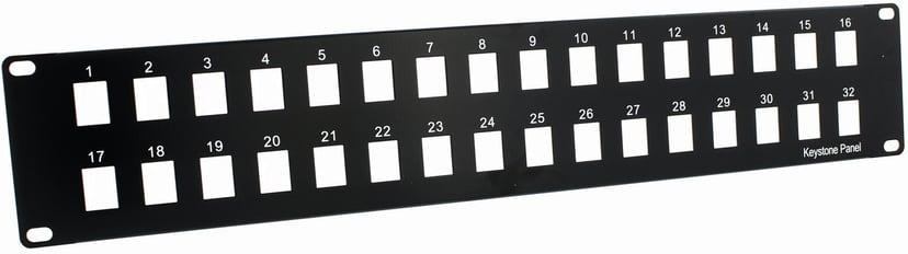 Direktronik Patchpanel 32 portar