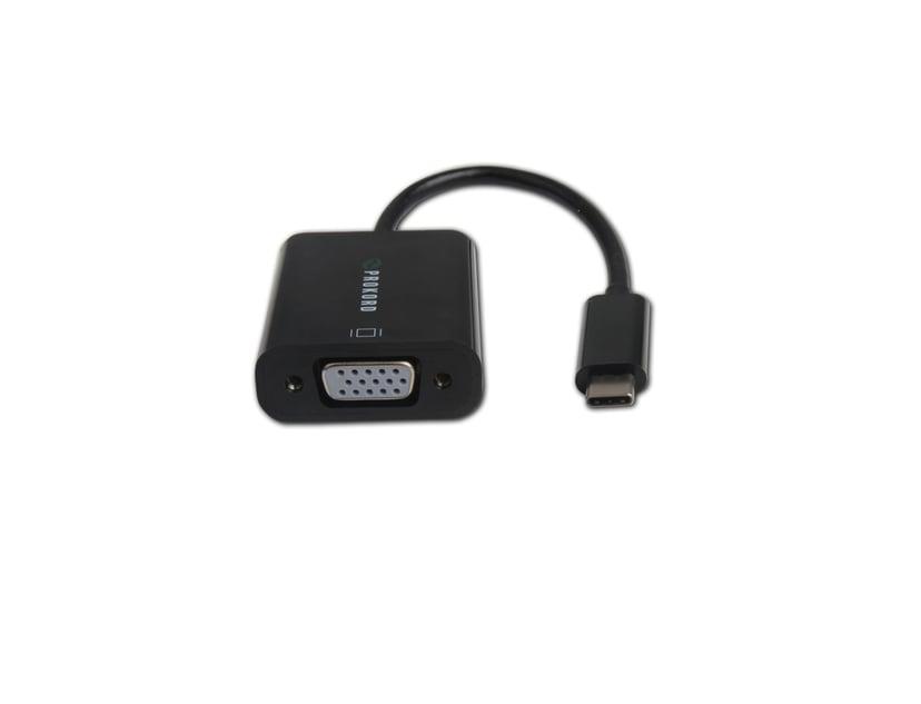 Prokord USB-C - VGA Adapter 0.15m 1920X1200@60Hz USB-C Male 15 pins-HD D-Sub (HD-15) Female