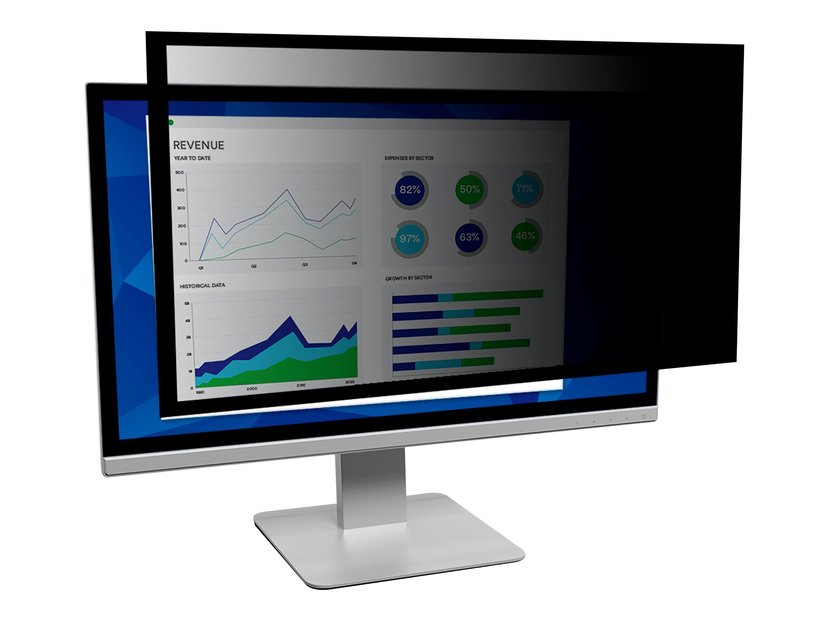 """3M Framed Privacy Filter for 24"""" Widescreen Monitor 24"""" 16:9"""