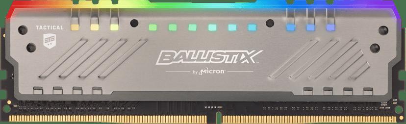 Crucial Ballistix Tactical Tracer RGB 16GB 2,666MHz DDR4 SDRAM DIMM 288-pin
