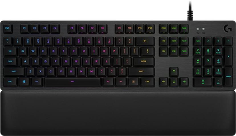 Logitech G513 Carbon Kabling Tastatur Nordisk Sort