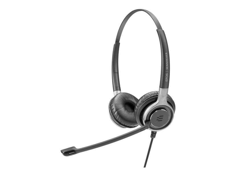 EPOS | SENNHEISER IMPACT SC660 TC Headset Telecoil Silver, Svart