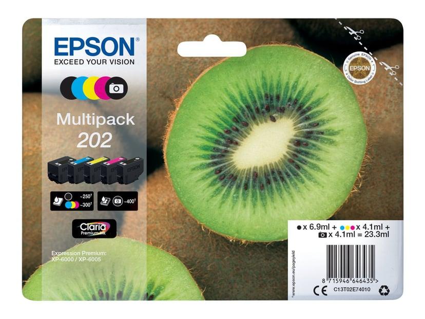 Epson Blekk Multipack (BK/C/M/Y/PBK) 202 - XP-6005