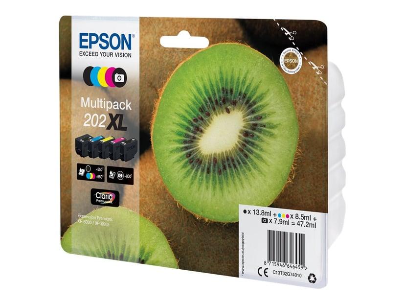 Epson Inkt Multipack (BK/C/M/Y/PBK) 202XL - XP-6005