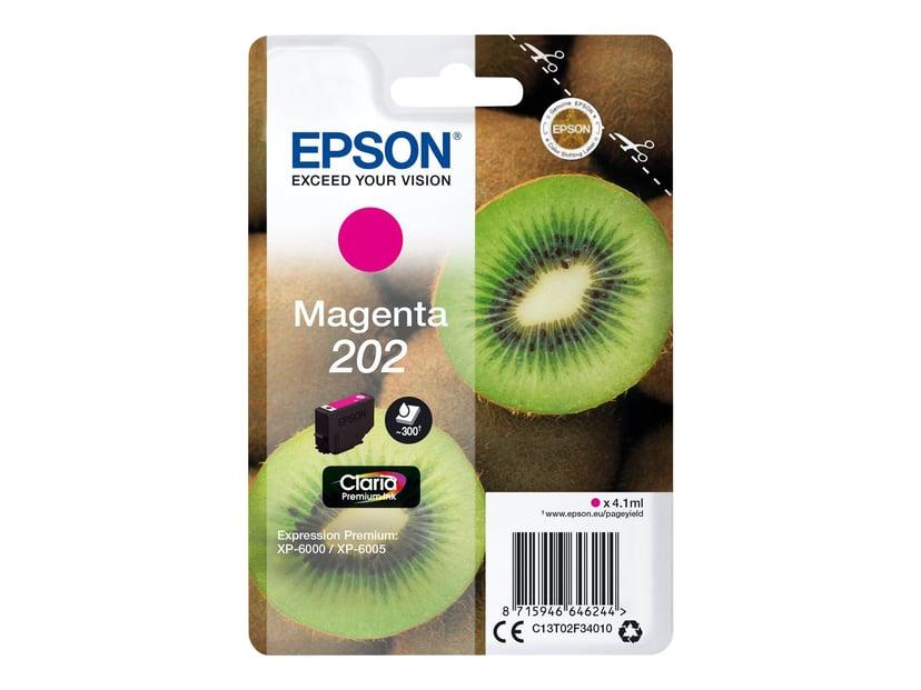 Epson Blæk Magenta 4.1ml 202 - XP-6000/XP-6005