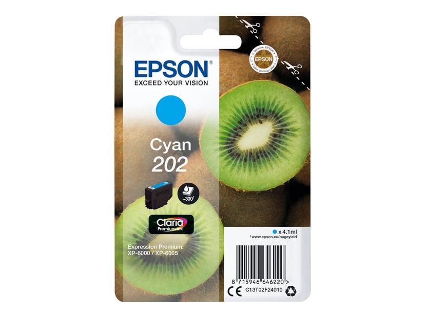 Epson Blæk Cyan 4.1ml 202 - XP-6000/XP-6005