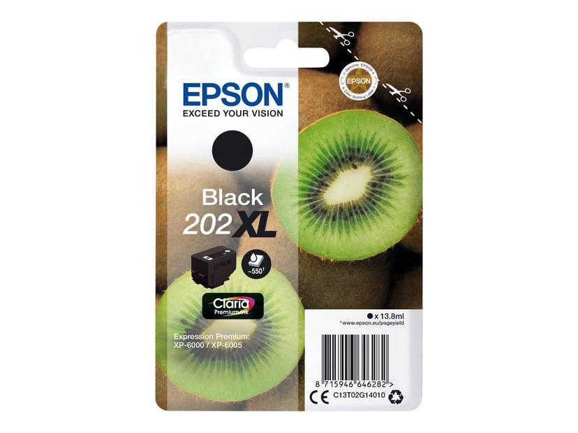 Epson Blæk Sort 13.8ml 202XL - XP-6000/XP-6005