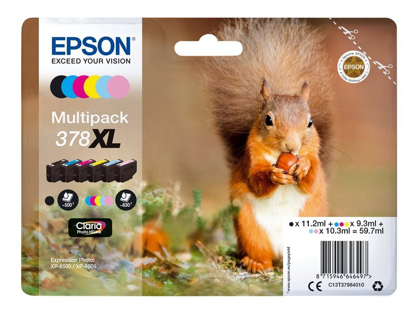 Epson Inkt Multipack (BK/C/M/Y/LM/LC) 378XL