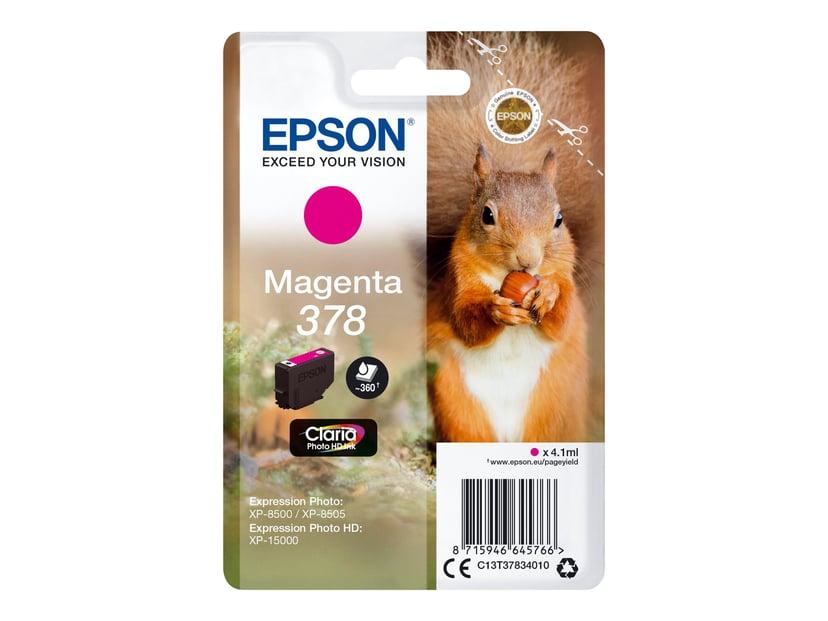 Epson Blæk Magenta 4.1ml 378 - XP-15000/XP-8500/XP-8505