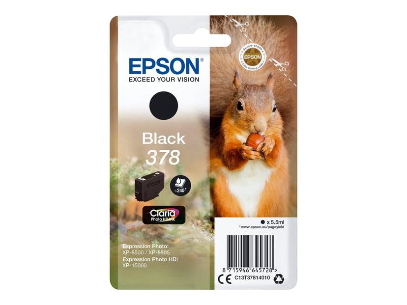 Epson Blekk Svart 5.5ml 378 - XP-15000/XP-8500/XP-8505
