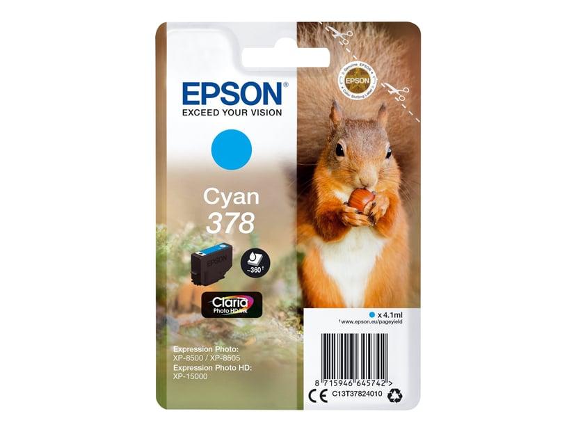 Epson Blekk Cyan 4.1ml 378 - XP-15000/XP-8500/XP-8505