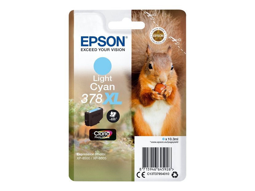 Epson Blekk Ljus Cyan 10.3ml 378XL - XP-15000/XP-8500/XP-8505