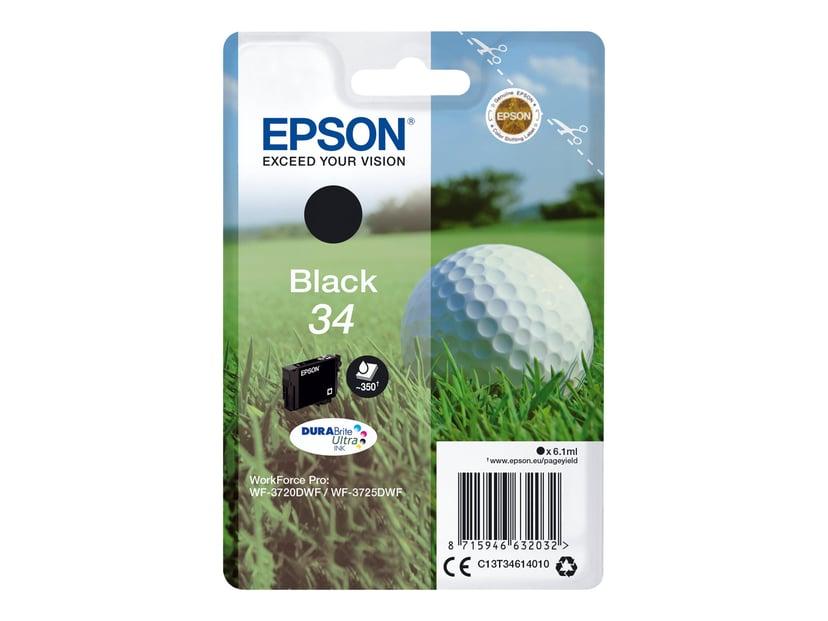 Epson Blekk Svart 6.1ml 34 - WF-3720