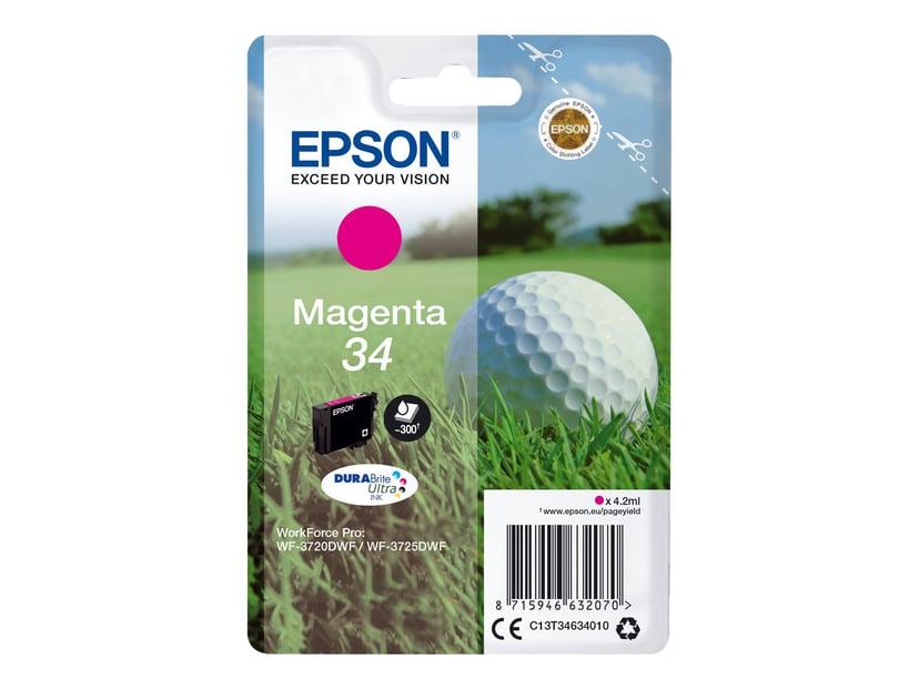 Epson Blæk Magenta 4.2ml 34 - WF-3720