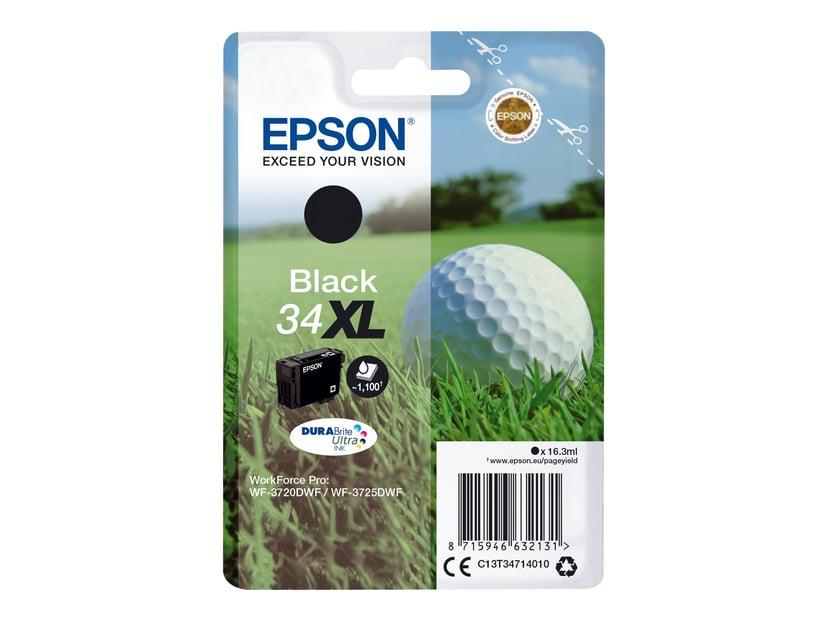 Epson Blekk Svart 16.3ml 34XL - WF-3720