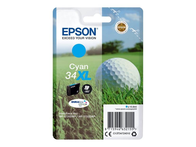 Epson Blekk Cyan 10.8ml 34XL - WF-3720