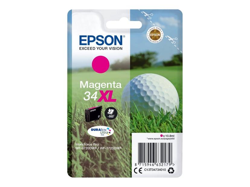 Epson Blekk Magenta 10.8ml 34XL - WF-3720