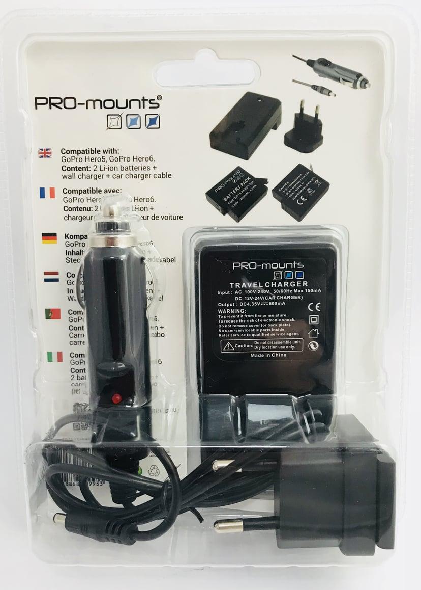 Pro-Mounts Battery/Charger Kit GoPro Hero 5 / 6 / 7 Black