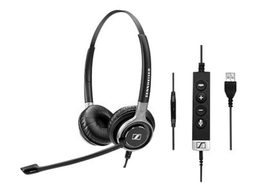 EPOS | SENNHEISER IMPACT SC665 USB Headset UC & ML & 3.5MM Duo Sort, Sølv