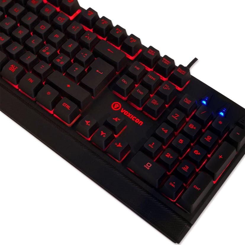 Voxicon Gaming GR8-10 Tangentbord Kabelansluten Nordiska länderna Svart