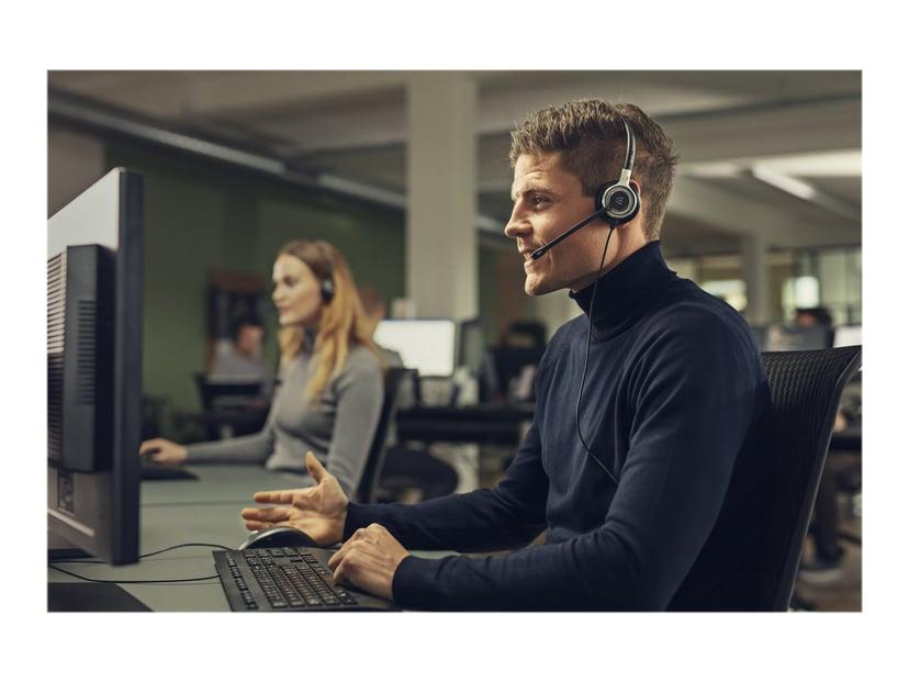 EPOS | SENNHEISER IMPACT SC665 Headset 3.5MM Duo Silver, Svart