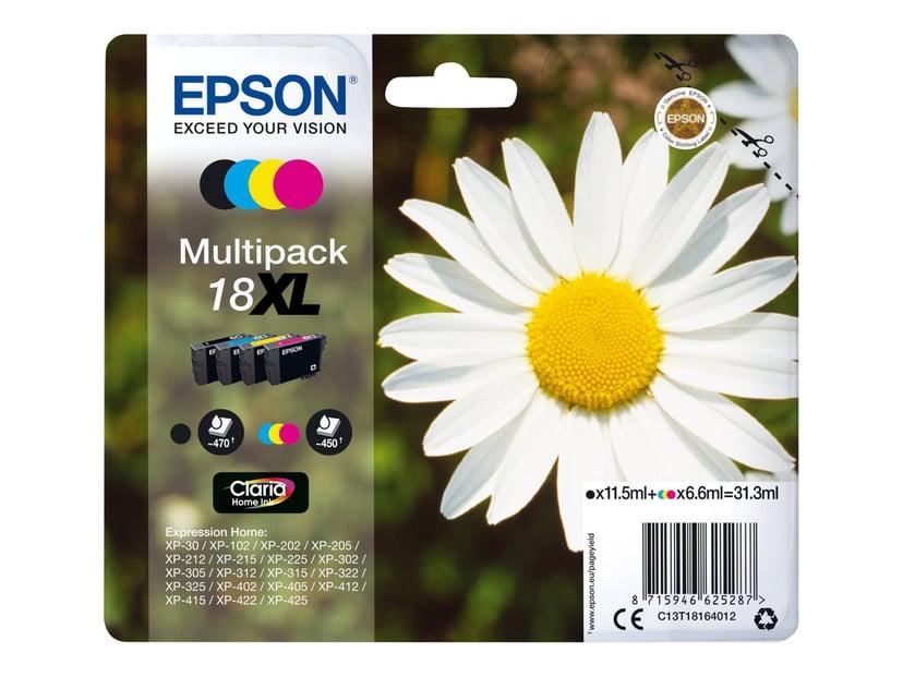 Epson Blekk Multipack (B/C/M/Y) 18XL - XP-302