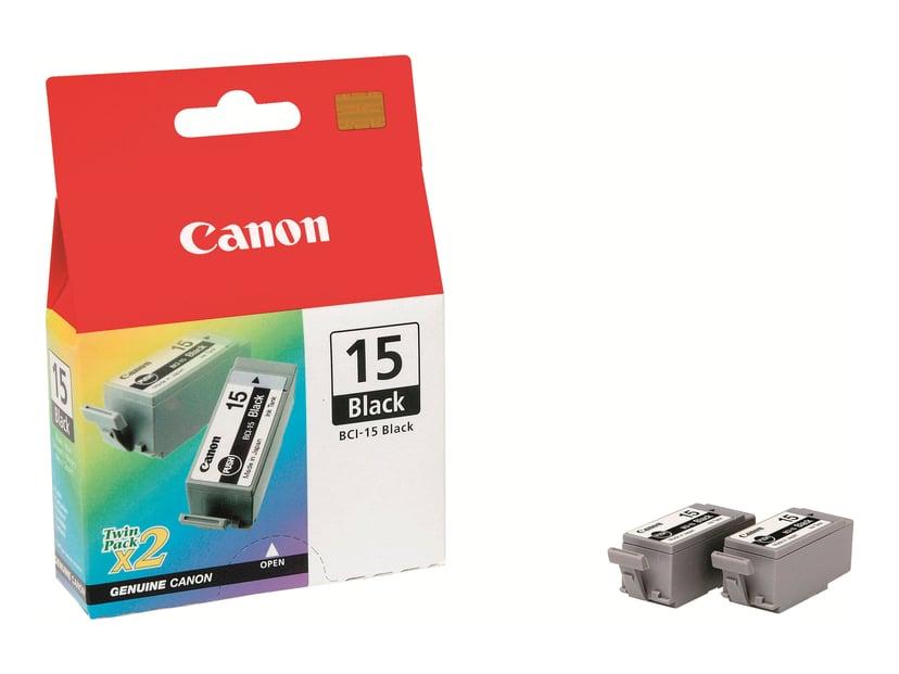 Canon Blæk Sort BCI-15BK - I70/I80 2 PCS